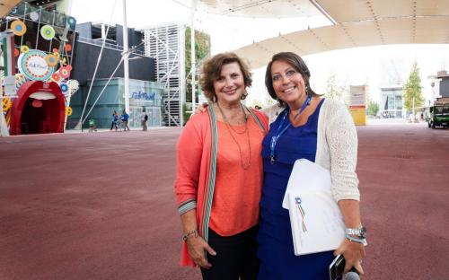 Gianna Martinengo (ideatrice di Expo Women Global Forum e Presidente di Associazione Donne e Tecnologie) e Sonia Re (Direttore Generale Associazione Professionale Cuochi Italiani)
